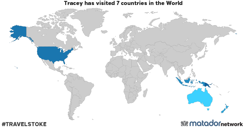 Map Of Australia New Zealand And Papua New Guinea.Tracey S Travel Map Matador Network