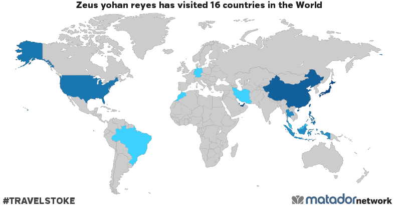 Zeus yohan reyess Travel Map Matador Network