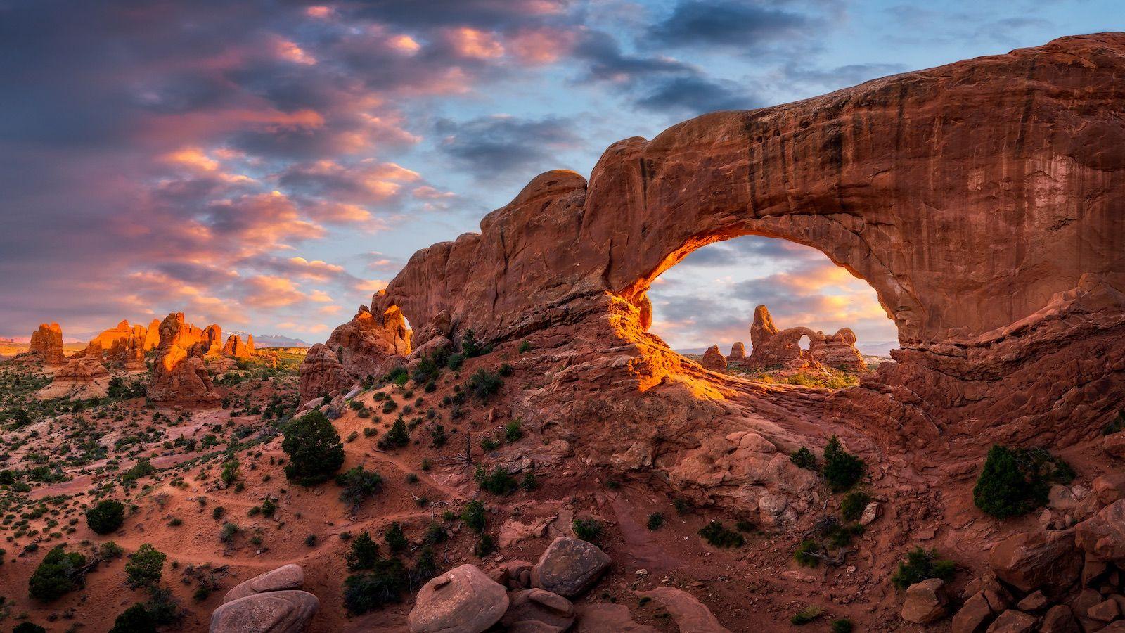 Moab Utah Arches National Park landscape destination