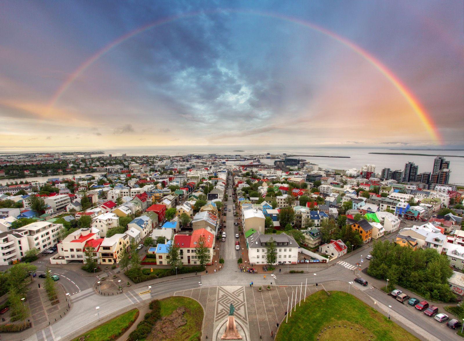Reykjavik Iceland cityscape destinations