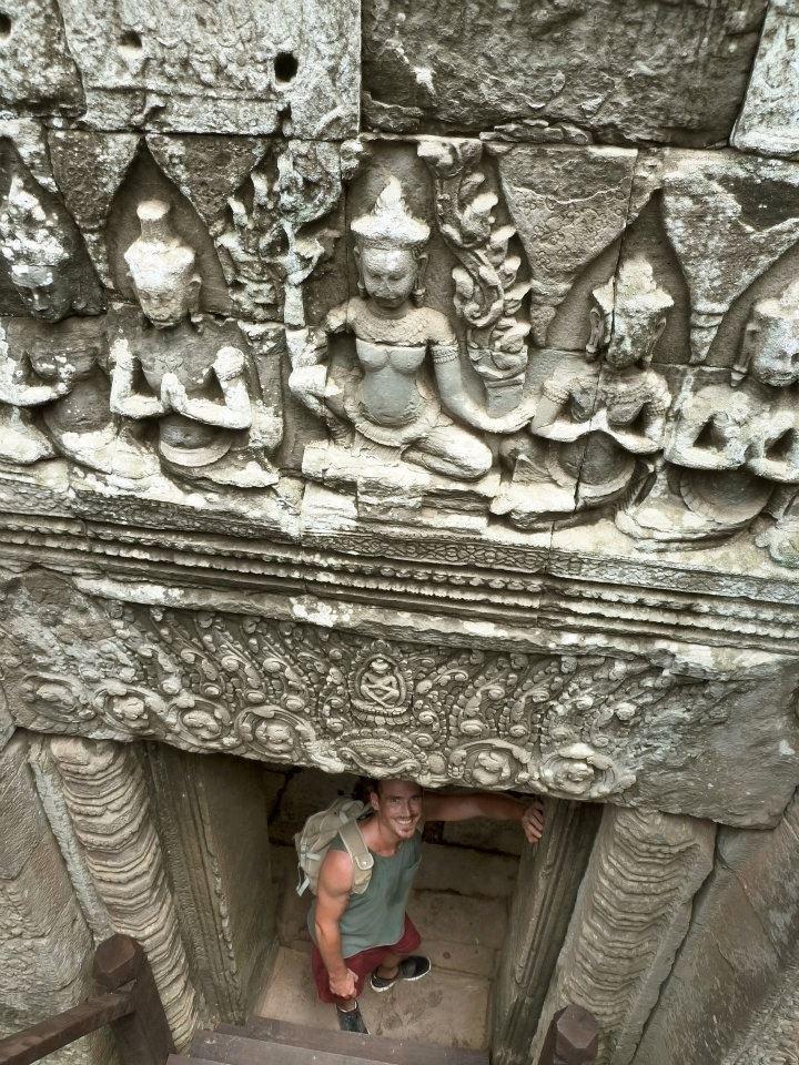 A person at Angkor
