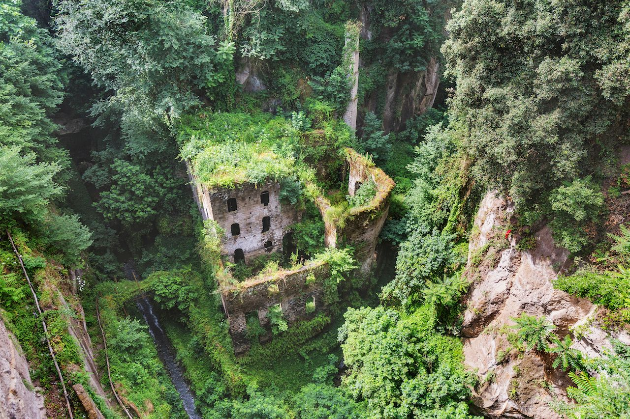 beautiful abandoned buildings in the valley of mills italy