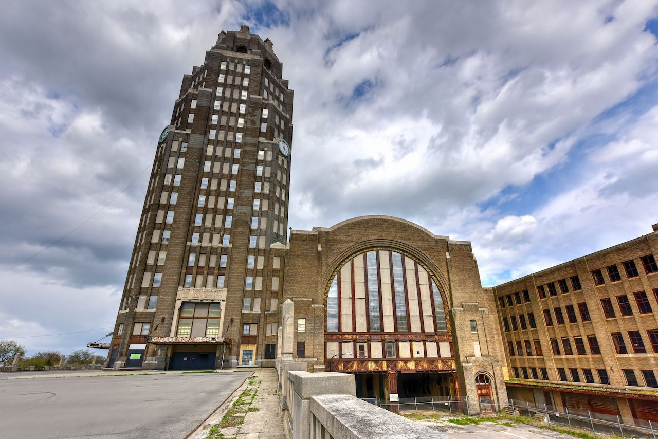 Abandoned train terminal Buffalo Central