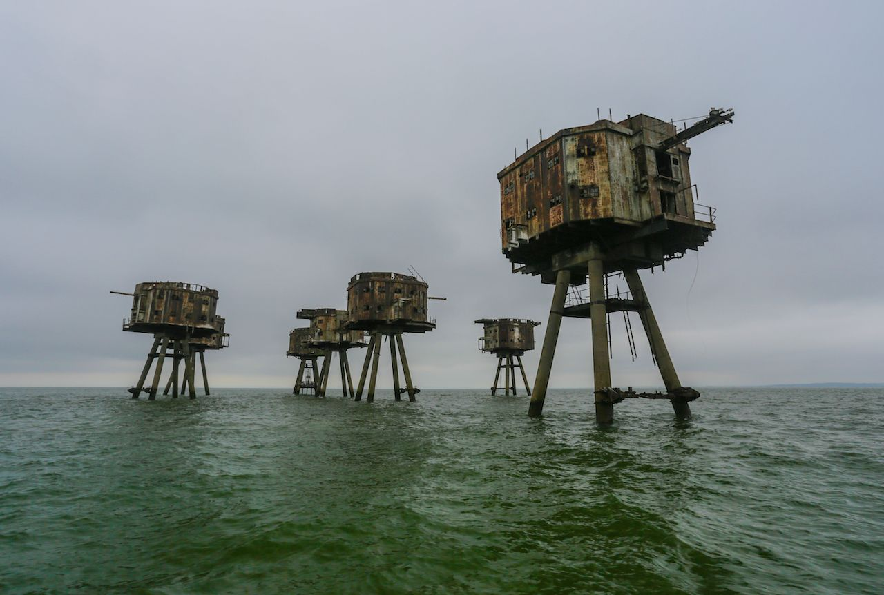 Abandoned forts in England