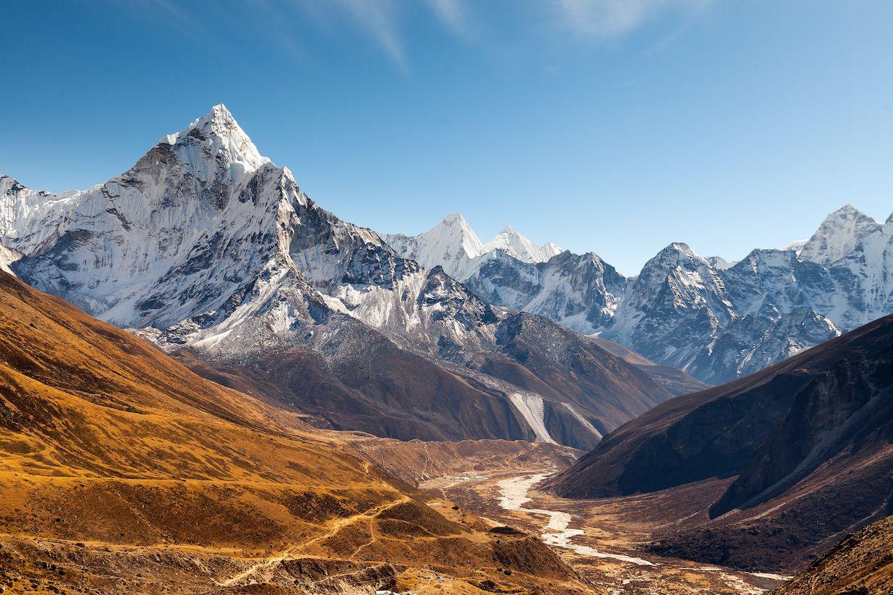 Ama Dablam, Everest region, Himalaya, Nepal natural wonders