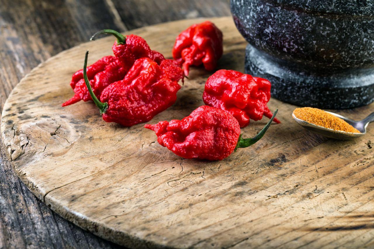 Carolina Reaper peppers hot peppers list