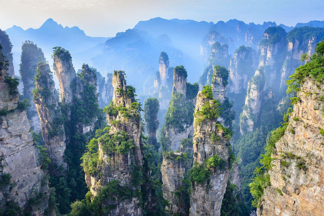 Zhangjiajie natural wonders