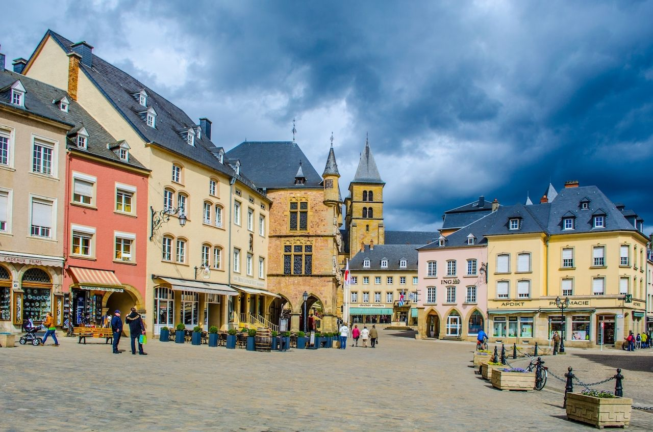 Echternach, Luxembourg, small towns Europe