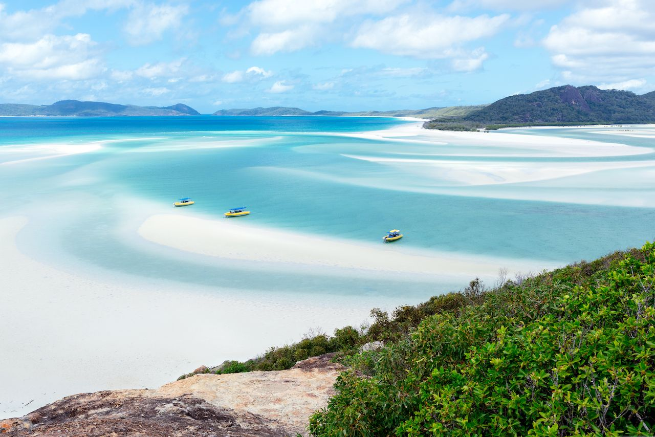 Whitehaven Beach in Queensland Australia