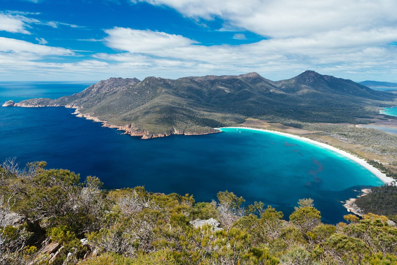 Wineglass Bay in Tasmania Australia