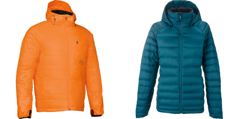Burton puffy jackets