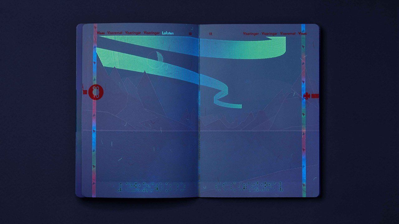 The new Norwegian passport features a northern lights hollogram