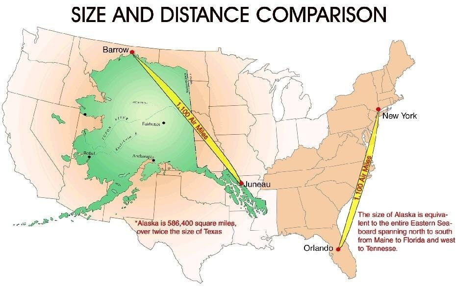 Map Of Alaska Compared To Us Alaska is a lot bigger than you think. See for yourself!