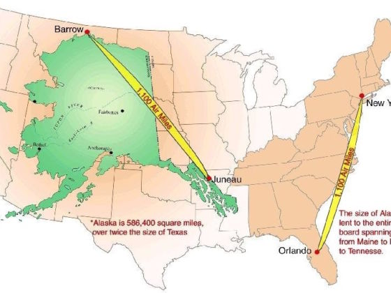 Map Of Alaska Over Us Alaska is a lot bigger than you think. See for yourself!