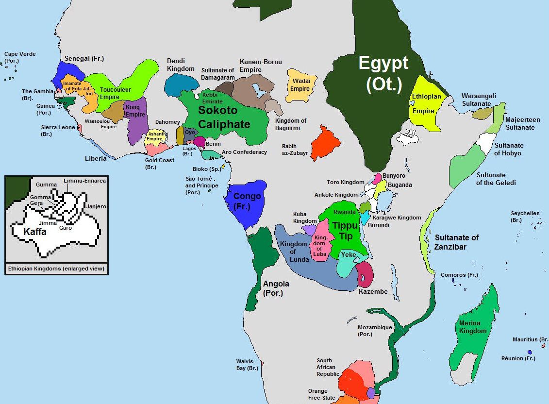 Map Of Africa Before And After Colonization This is what Africa looked like before European colonialism