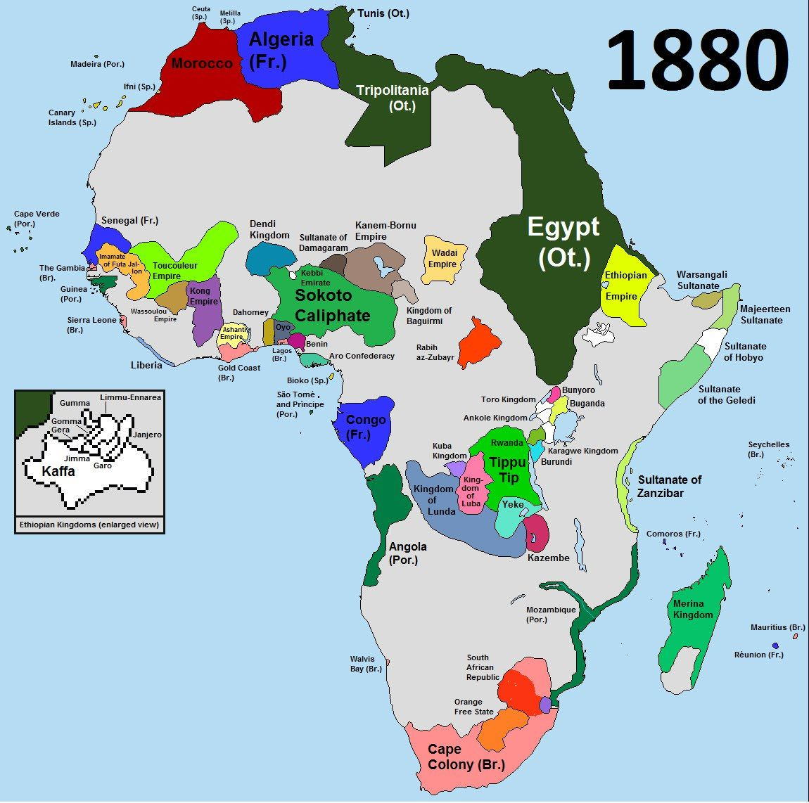 map of Africa before colonization