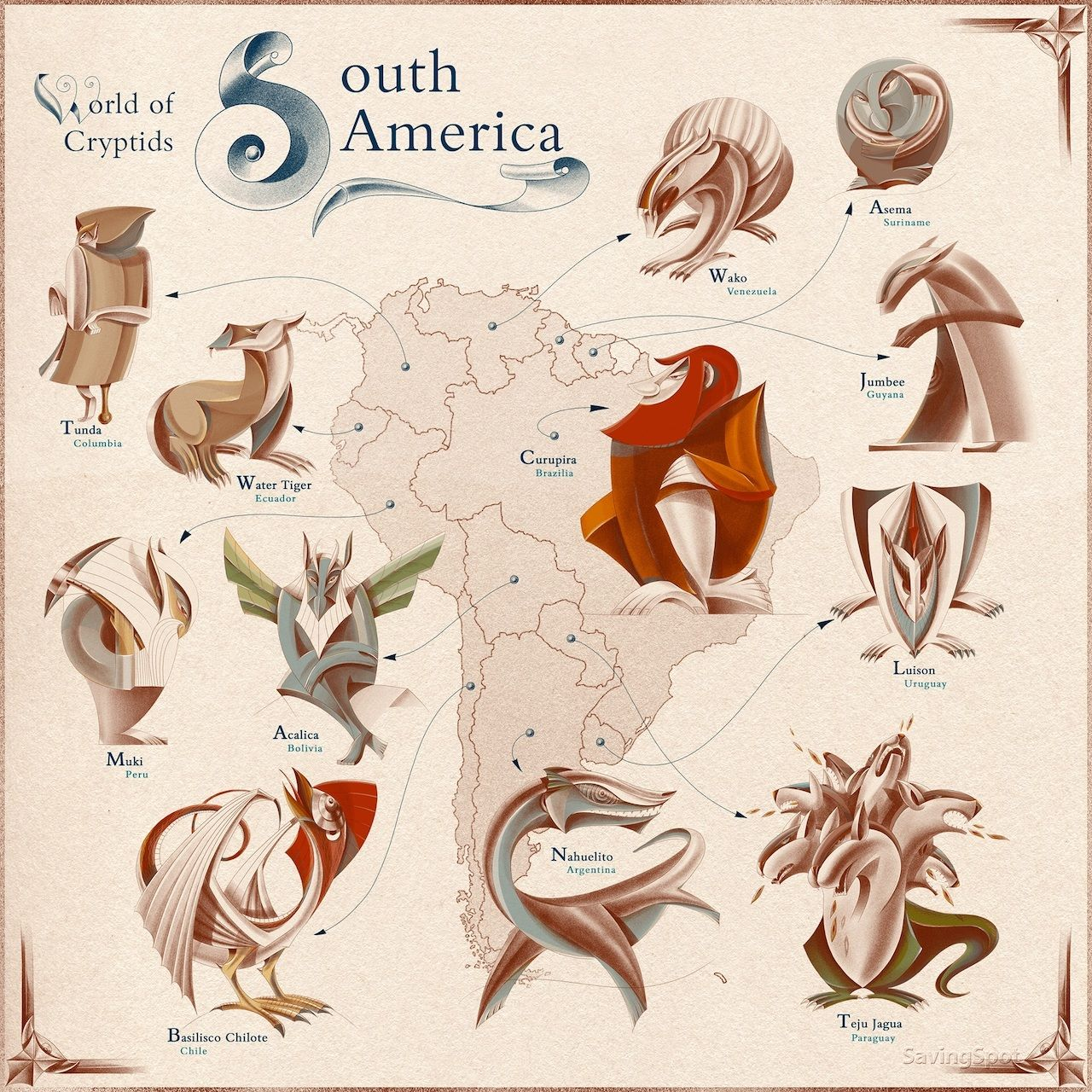 Mythical Creatures in South America