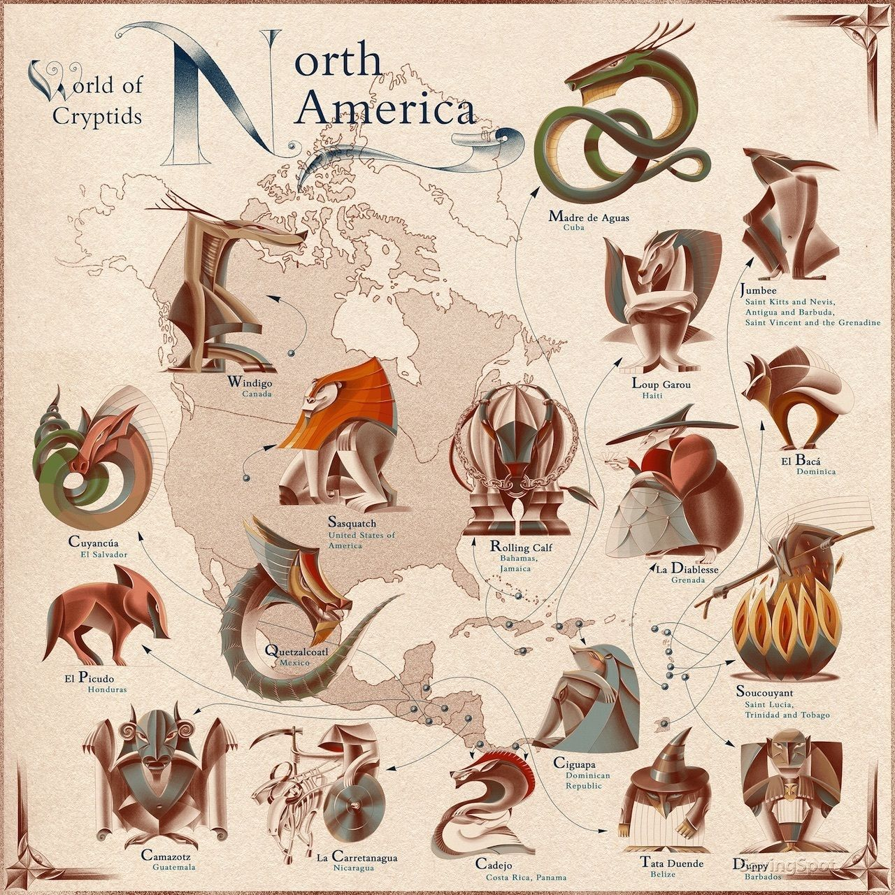 Mythical Creatures of North America