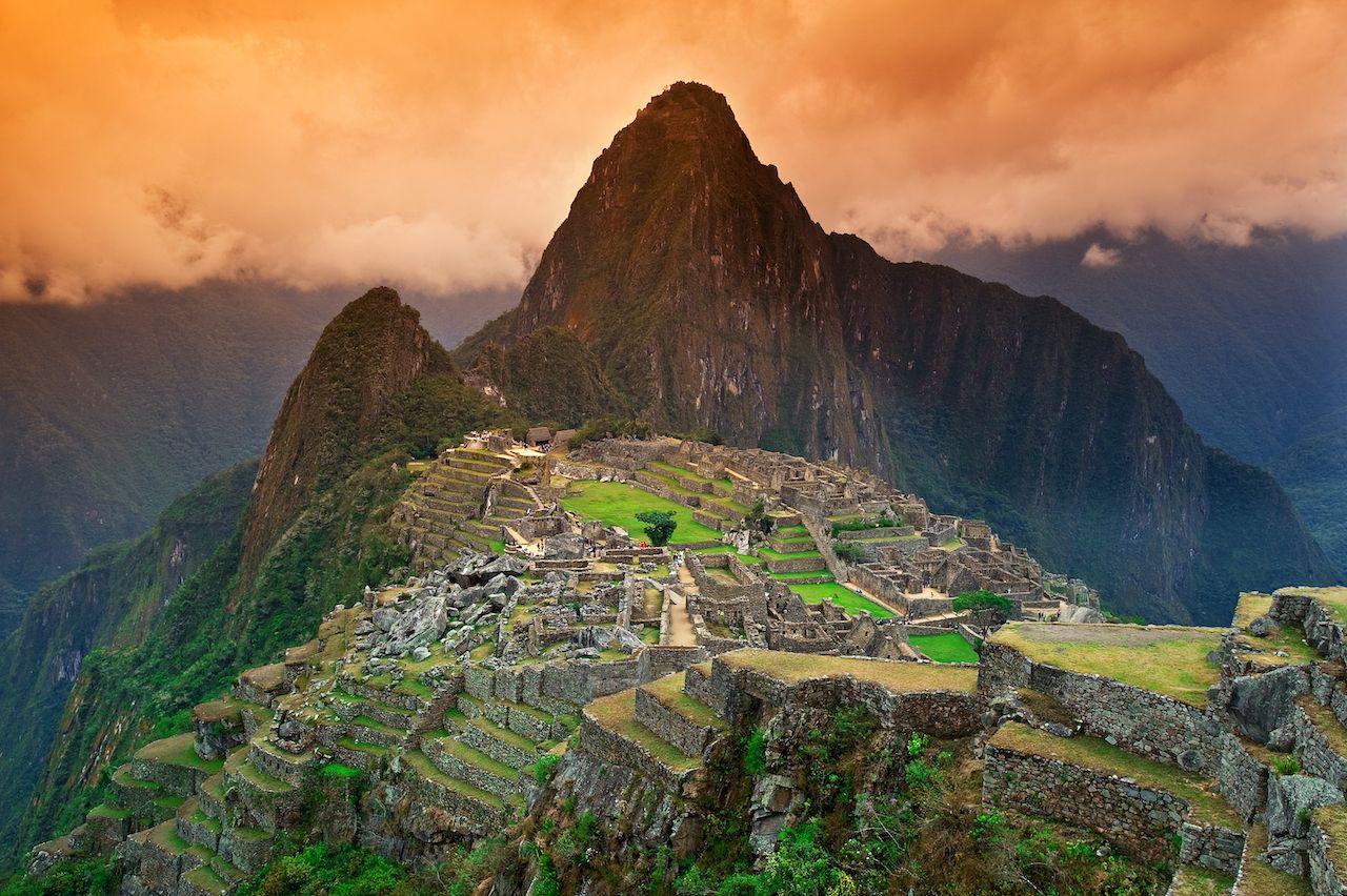 Machu Picchu around sunset 7 wonders of the world 2019