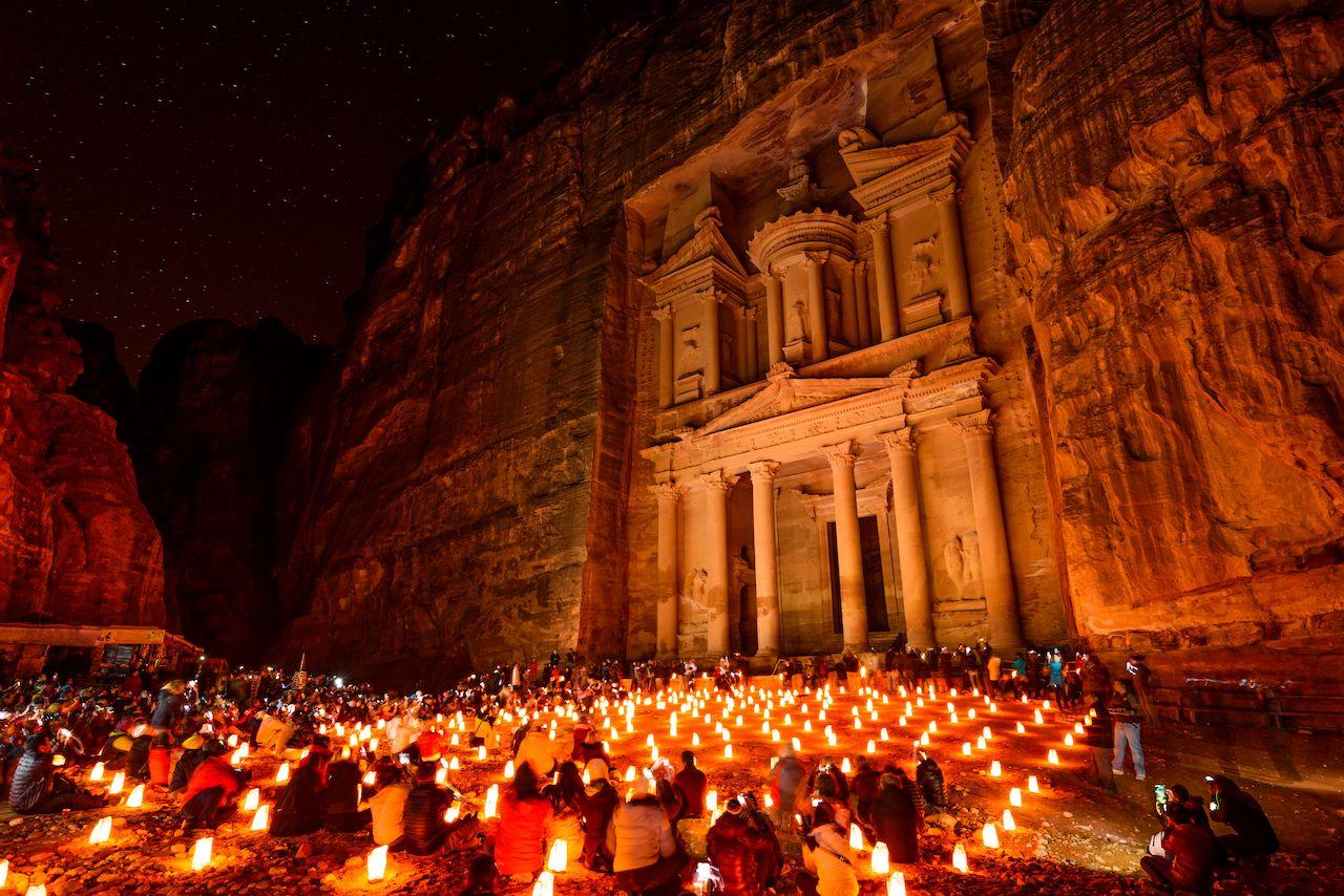 Petra at night 7 wonders of the world 2019