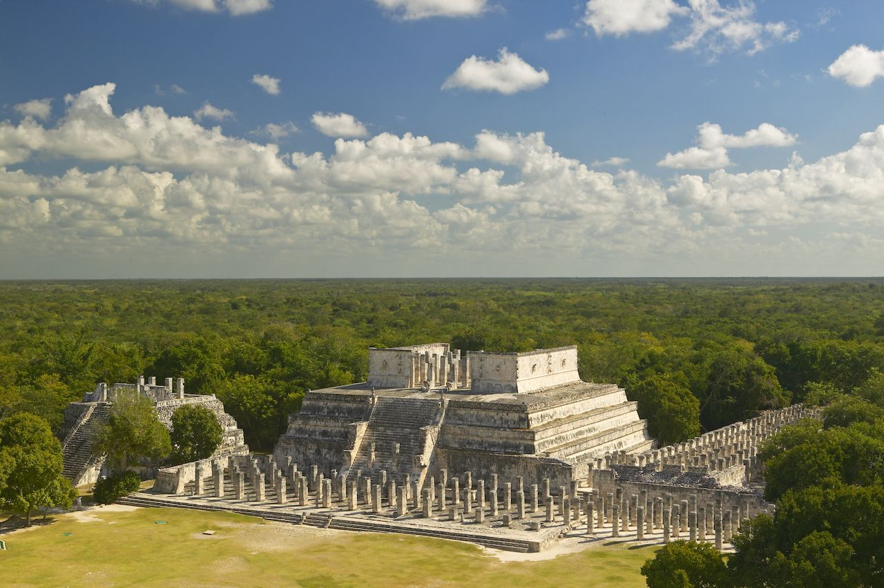 Temple of warriors at Chichen Itza 7 wonders of the world 2019