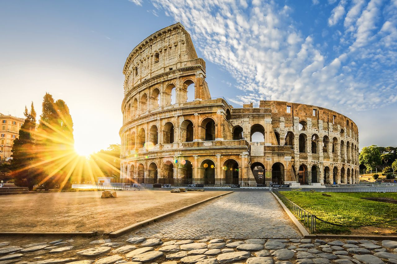 View of the Colosseum 7 wonders of the world 2019