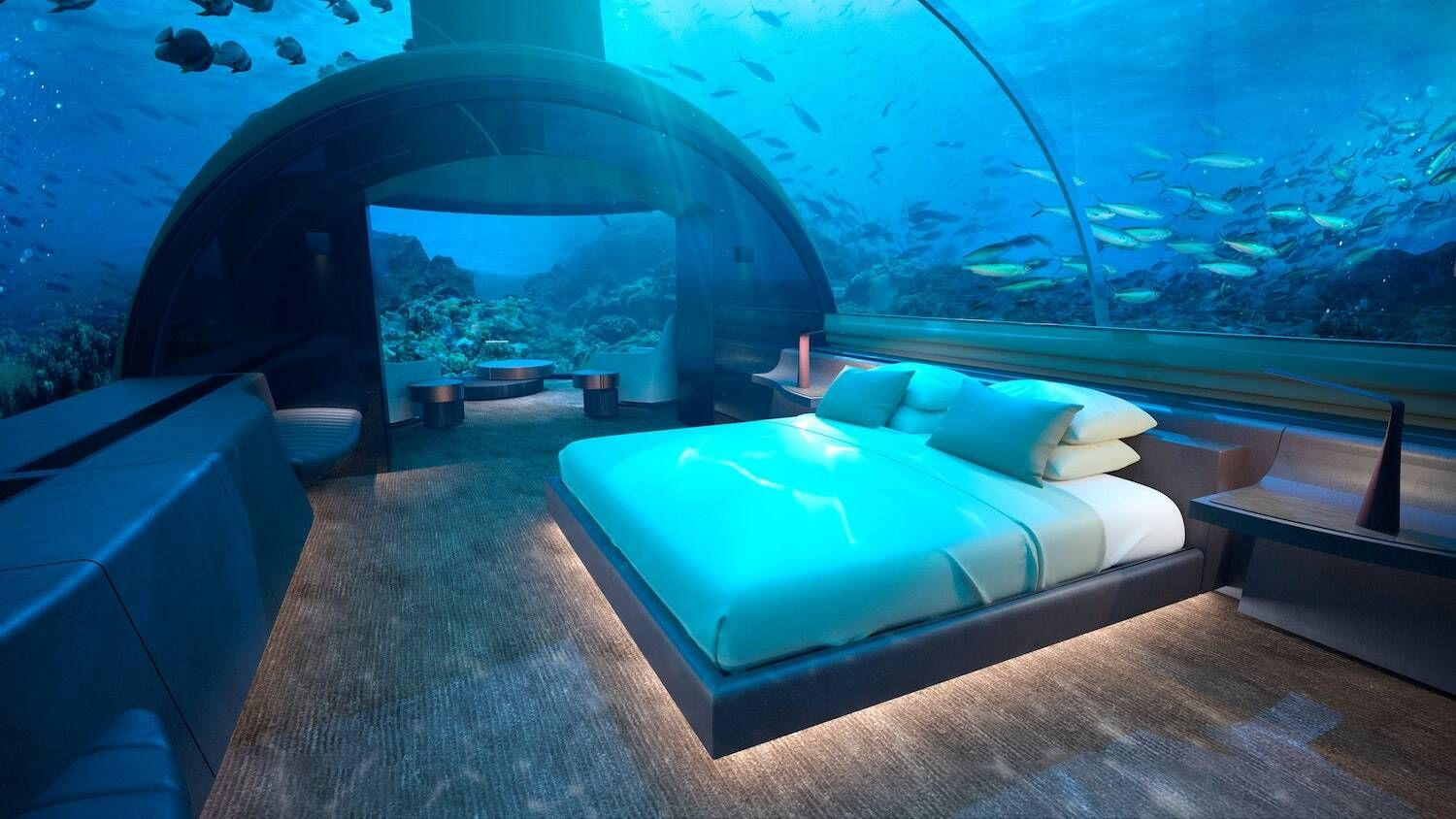 This underwater villa in The Maldives lets you sleep with sharks