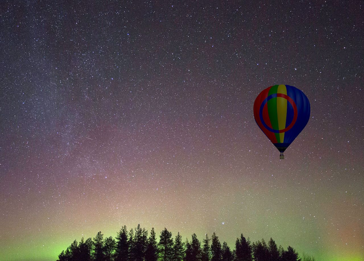 aurora and stargazing ballooning