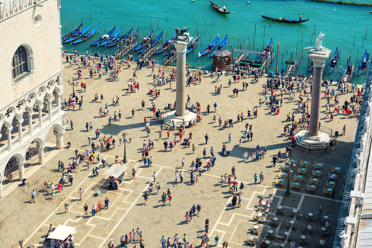 People walking in Venice