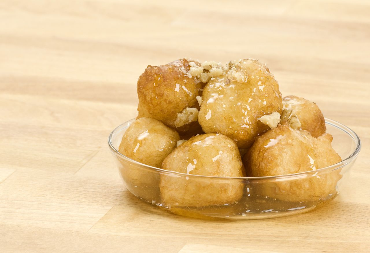 Loukoumades, Greek donuts