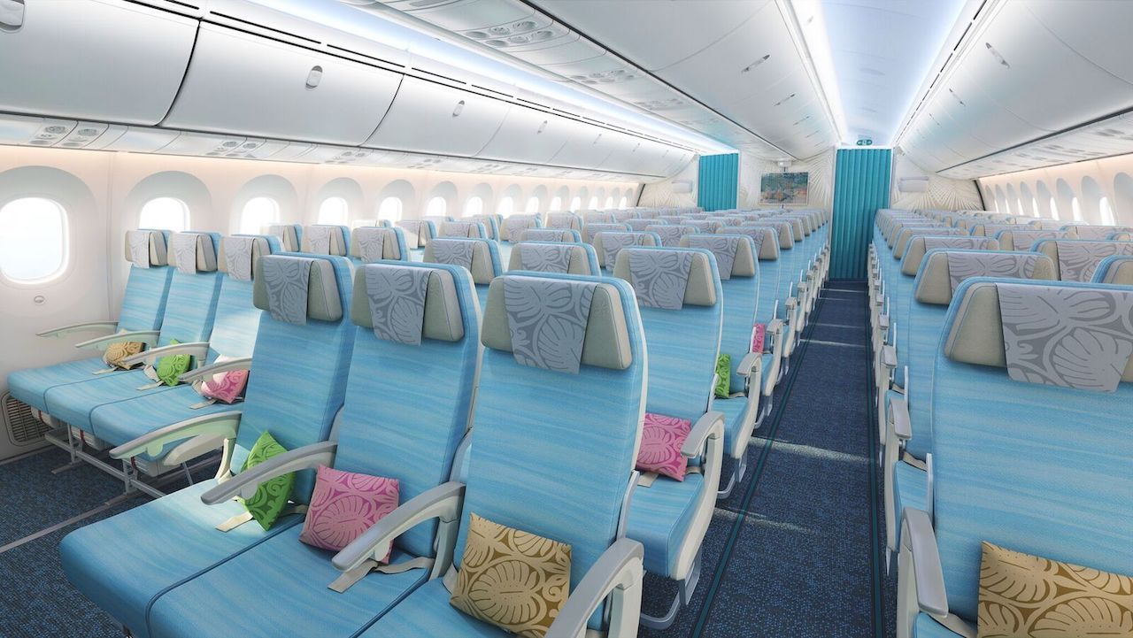 Air Tahiti Nui economy coolest airplane interior