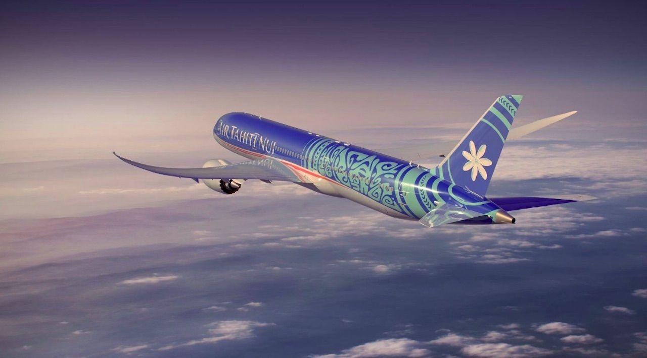 Air Tahiti Nui new livery coolest airplane interior