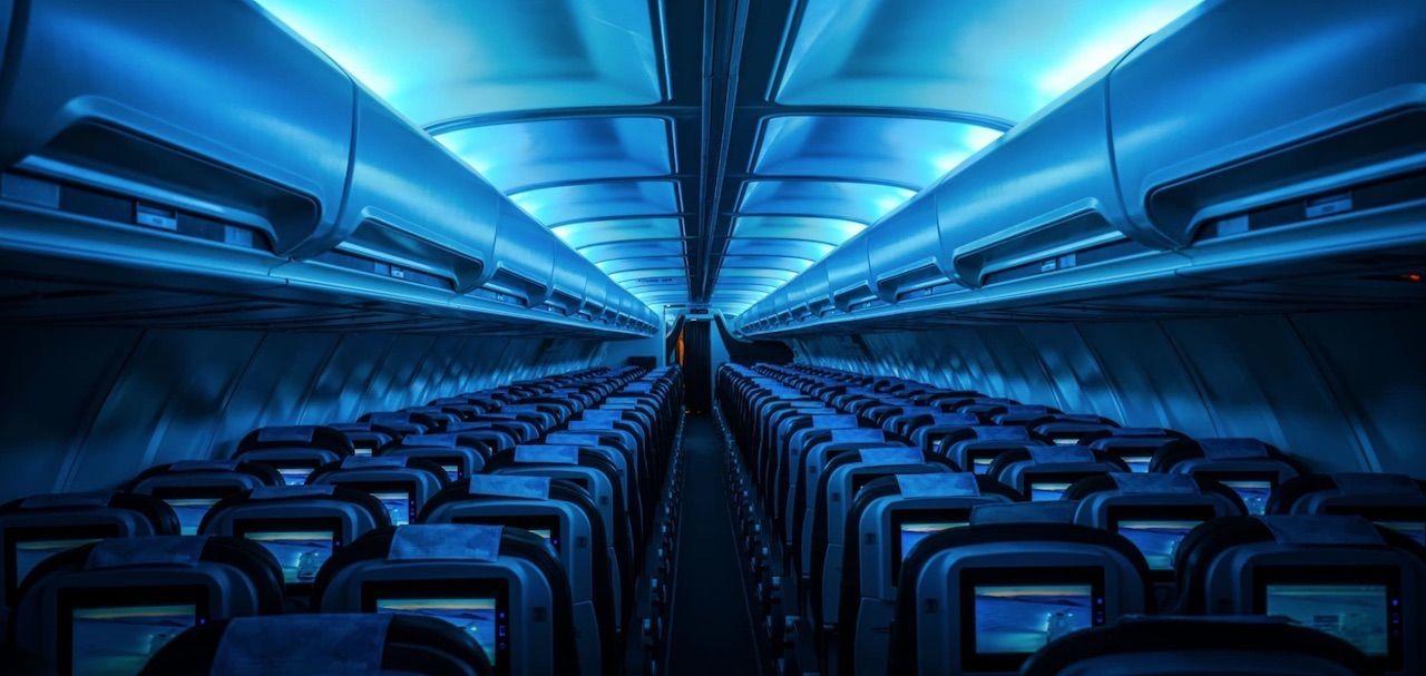 Glacier-themed airplane Icelandair coolest airplane interior
