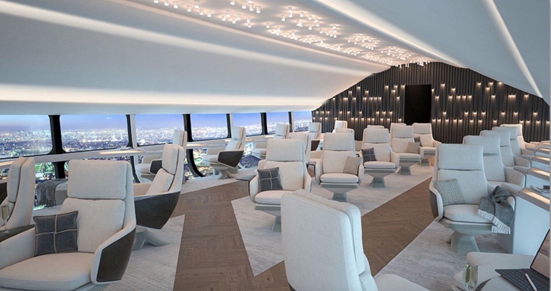 Hybrid Air Vehicle Airlander 10 Interior for 70 passengers