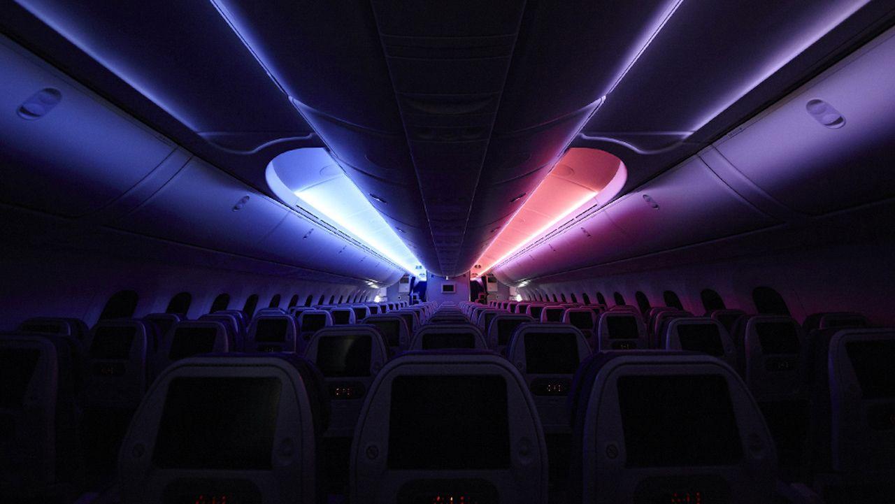 R2D2 plane lights coolest airplane interior