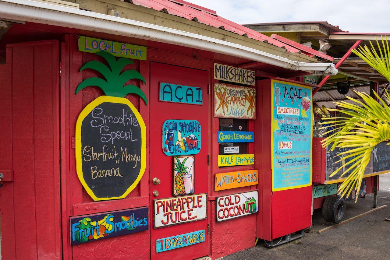 Aloha Juice Bar on Kauai, kauai hawaii