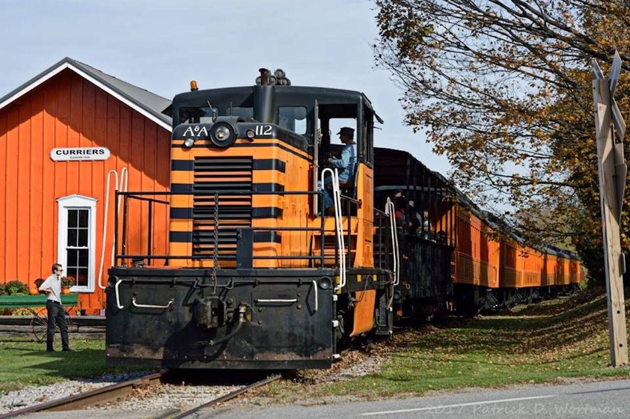 Arcade and Attica Railroad Corporation fall train ride