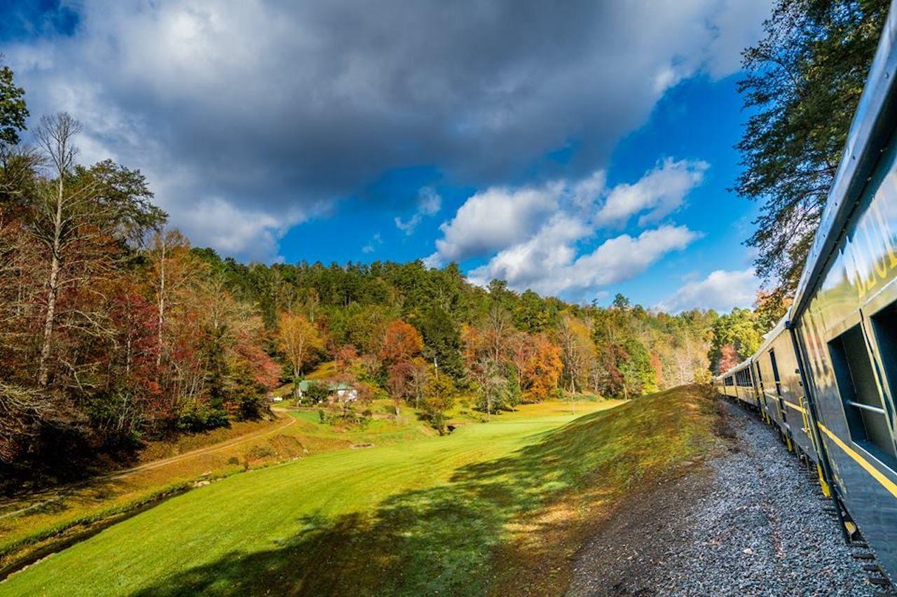 Blue Ridge Scenic Railway fall train ride view