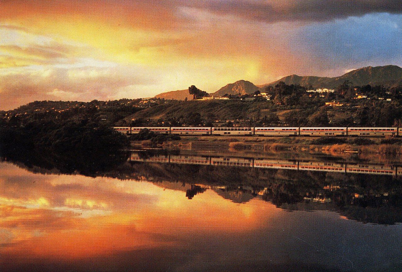 The Coast Starlight train from San Francisco to Seattle