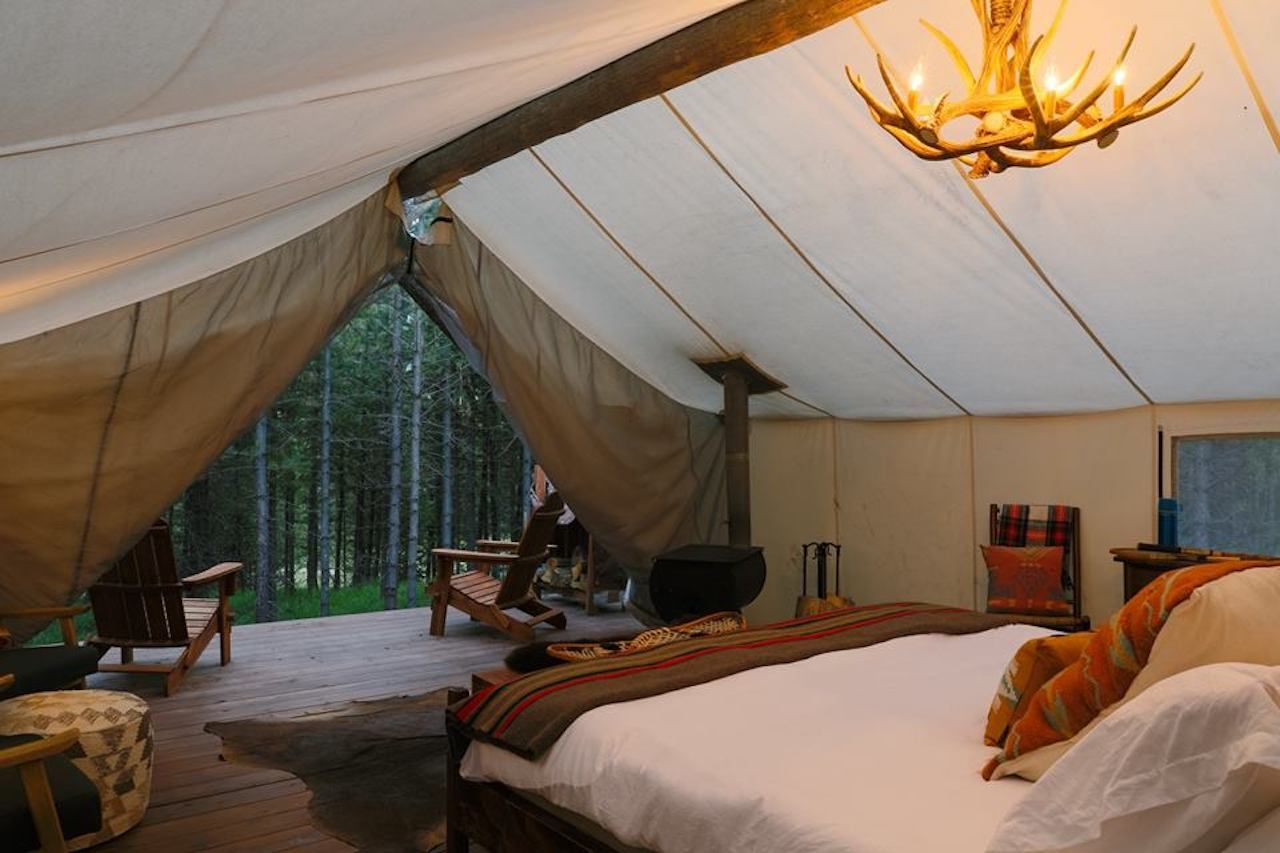 Collective Retreats glamping  on a fall getaway from NYC