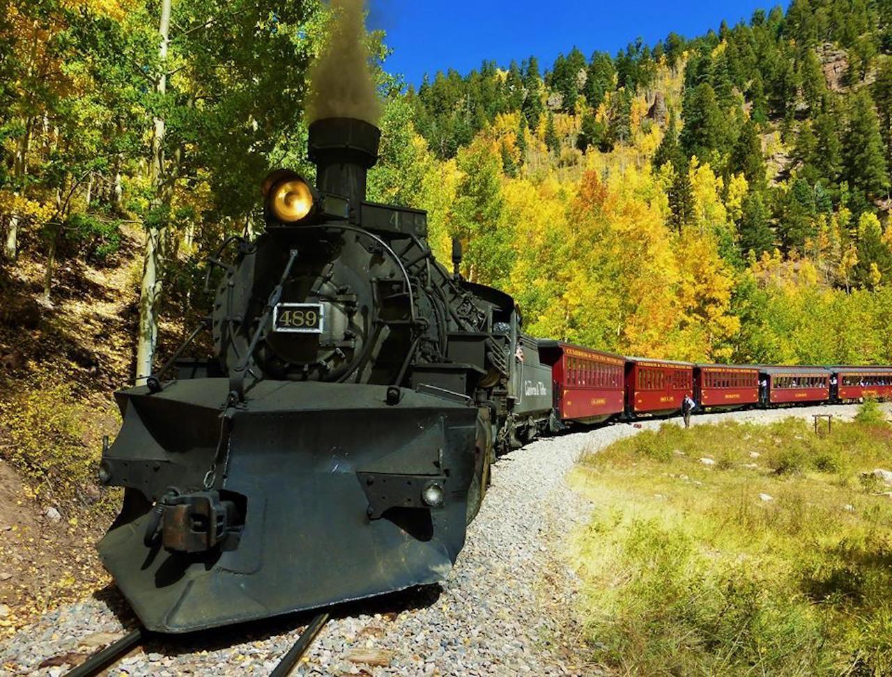 A fall train ride on the Combres and Toltec Railroad