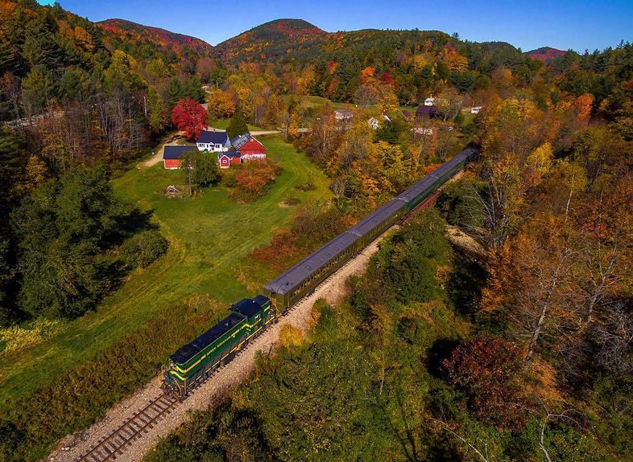 Green Mountain Railroad fall train rides through Vermont
