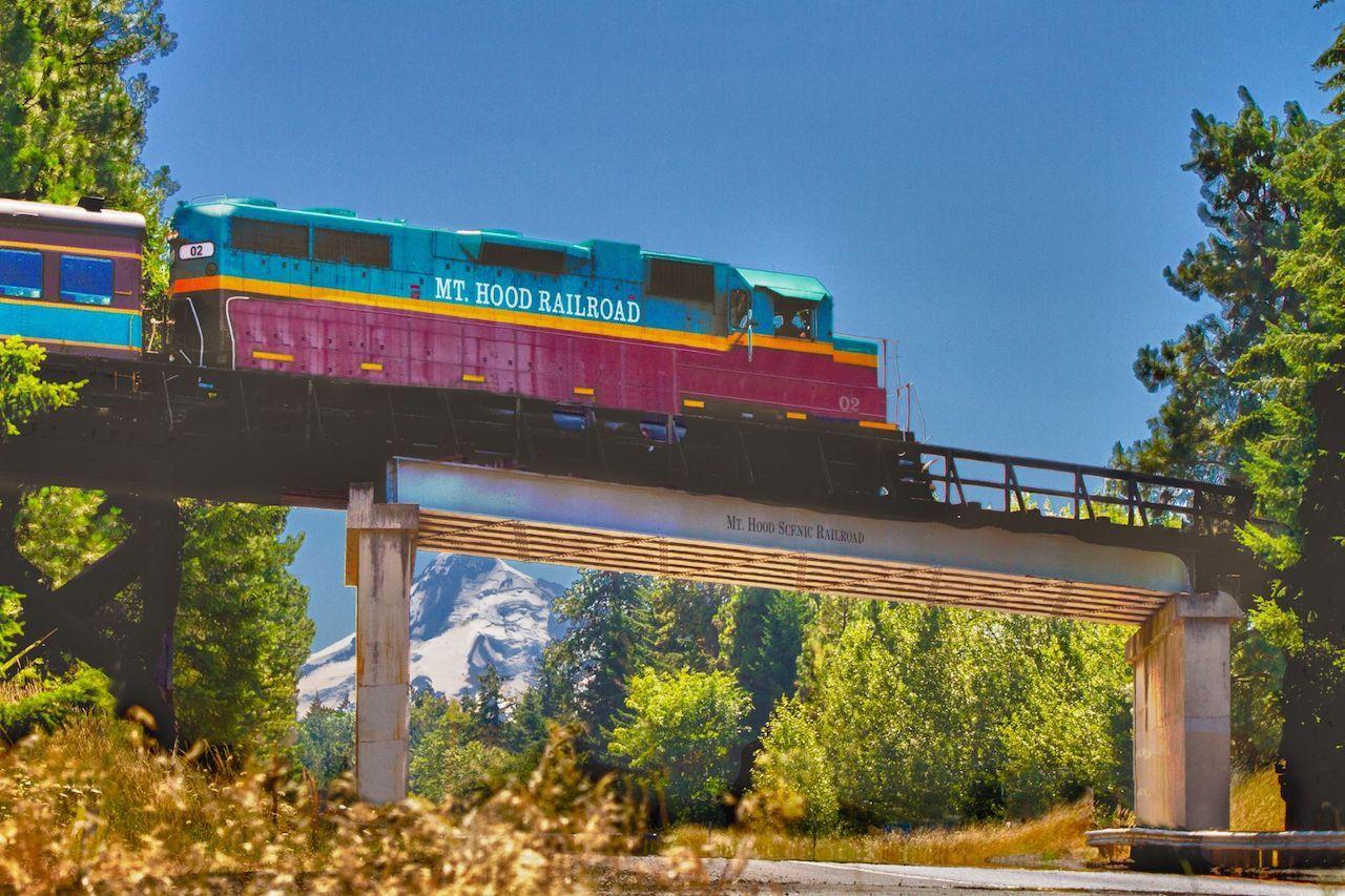 The Mount Hood Railroad in Oregon