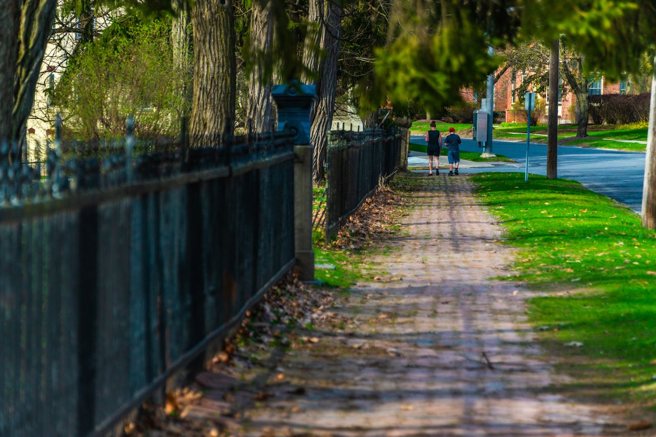 Strolling in Saratoga Springs on a day trip from NYC