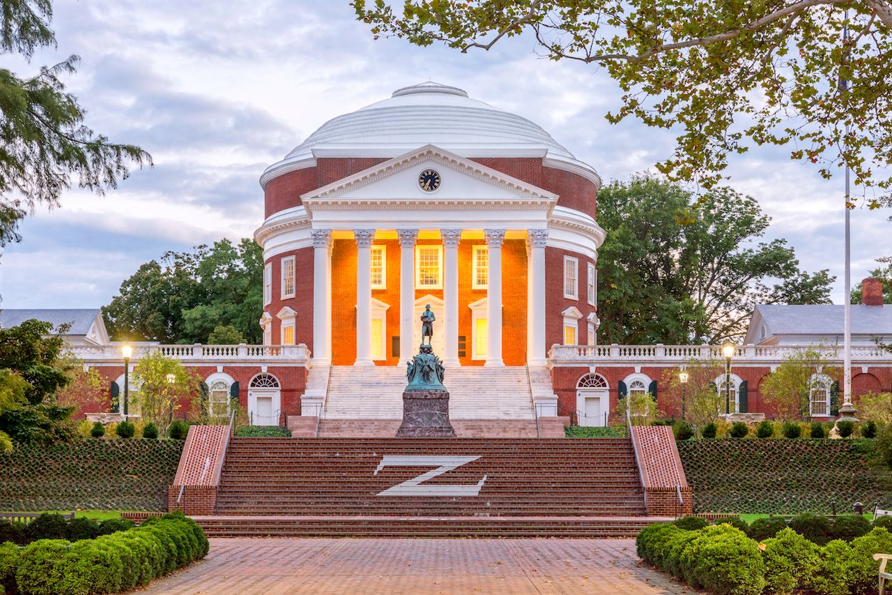 University of Virginia at dusk