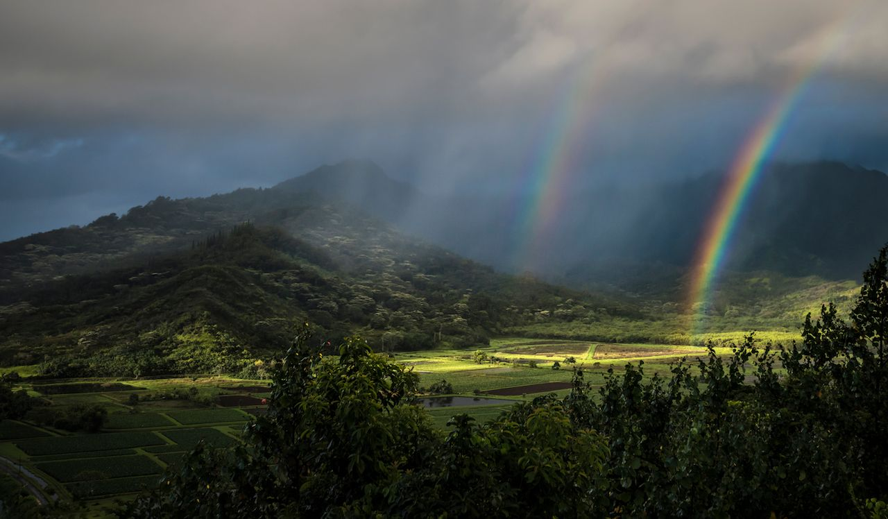double rainbow on Kauai, kauai hawaii