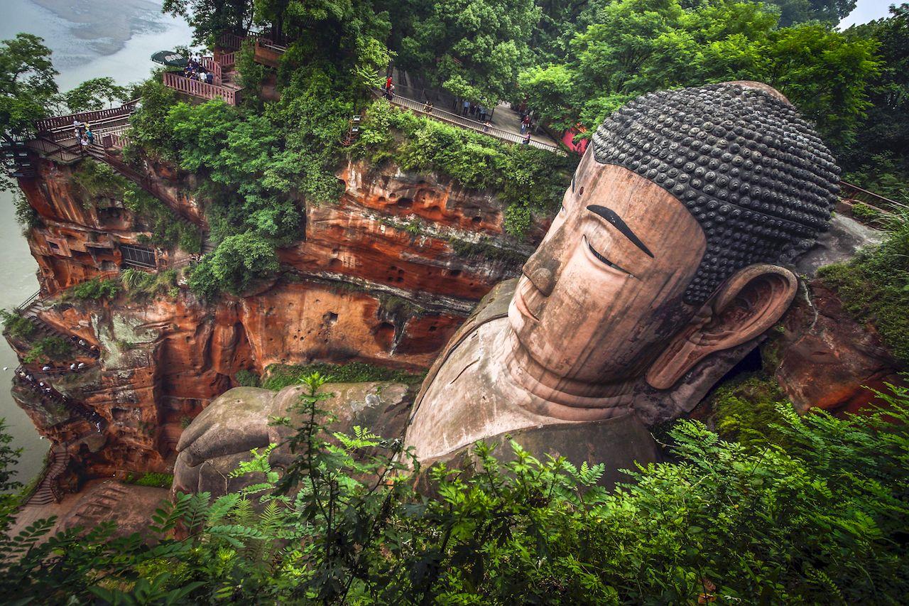 Buddhist statue in Leshan, China