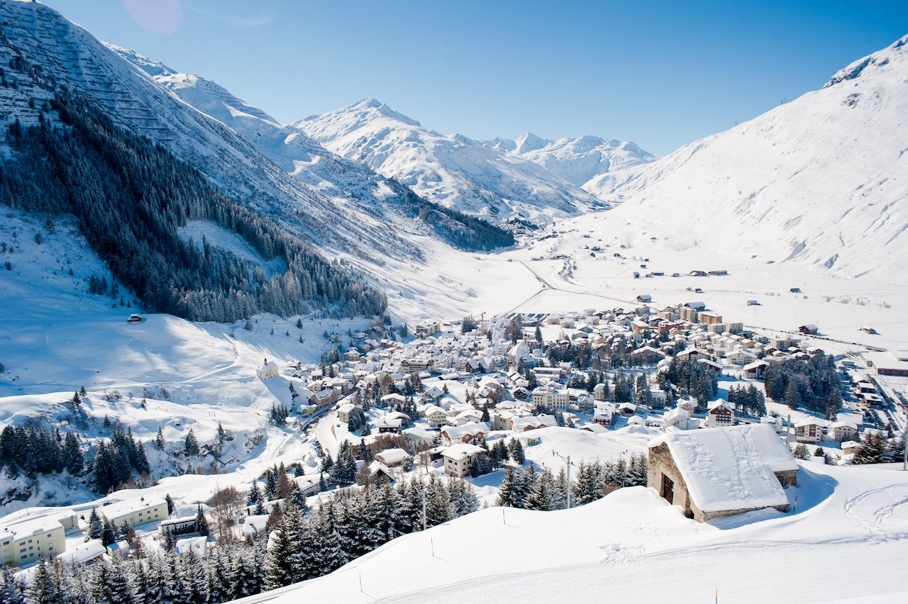 Andermatt in Switzerland village