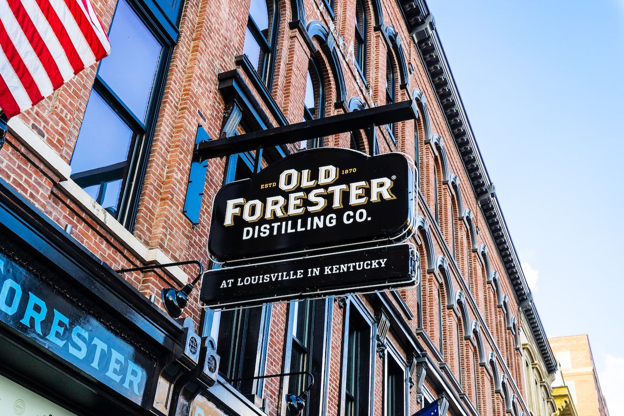 Distillery tours of Old Forester Distilling Co. in Louisville, Kentucky