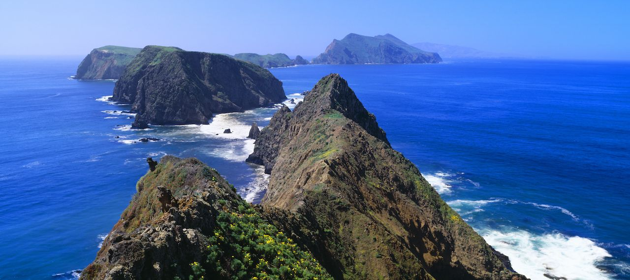 Channel Islands near Santa Barbara in California